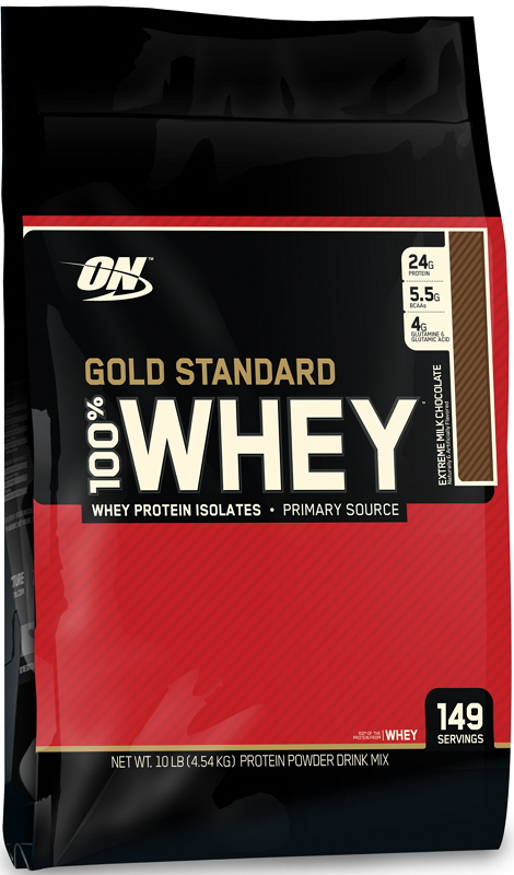 100% Whey Gold Standard 10lb choc. - ON