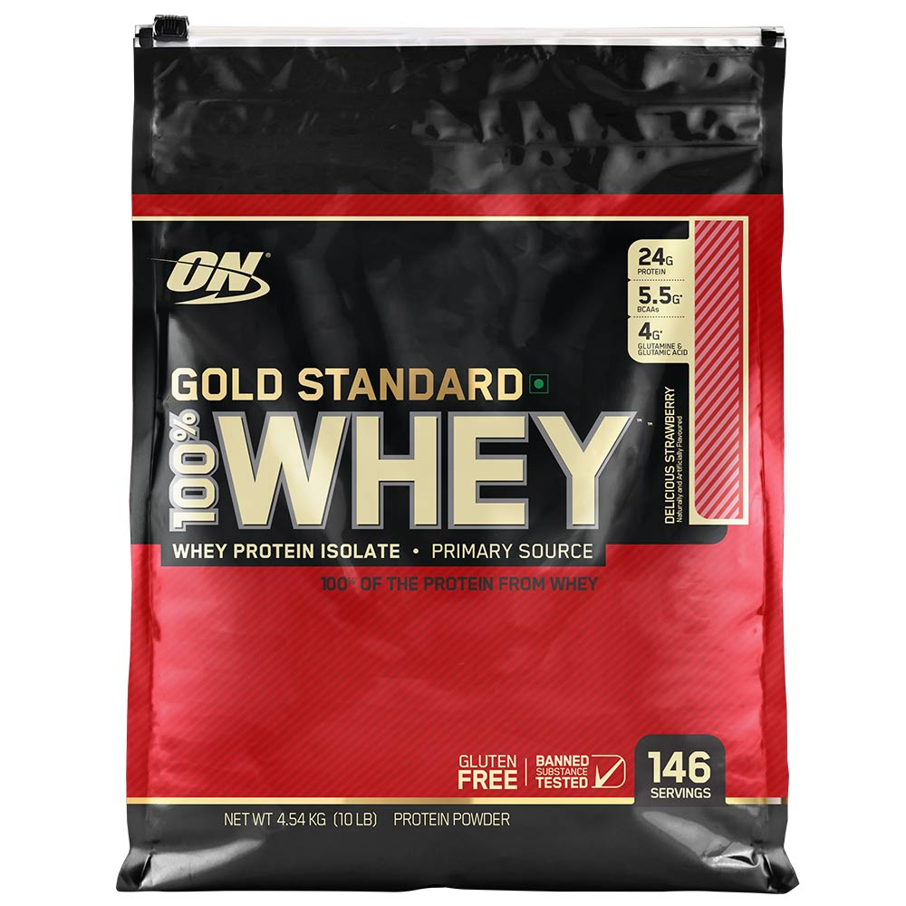 100% Whey Gold Standard 10lb straw. - ON