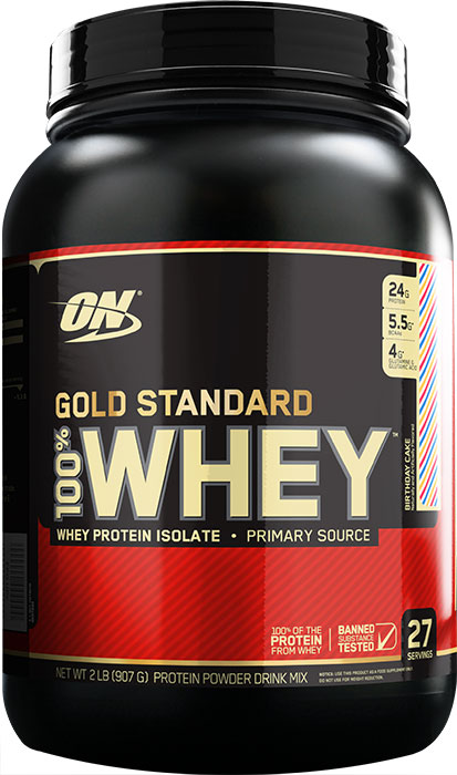 100% Whey Gold Standard 2lb birth. - ON