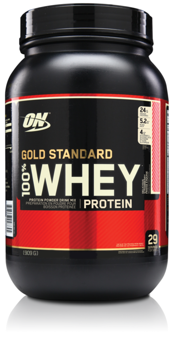 100% Whey Gold Standard 2lb straw. - ON