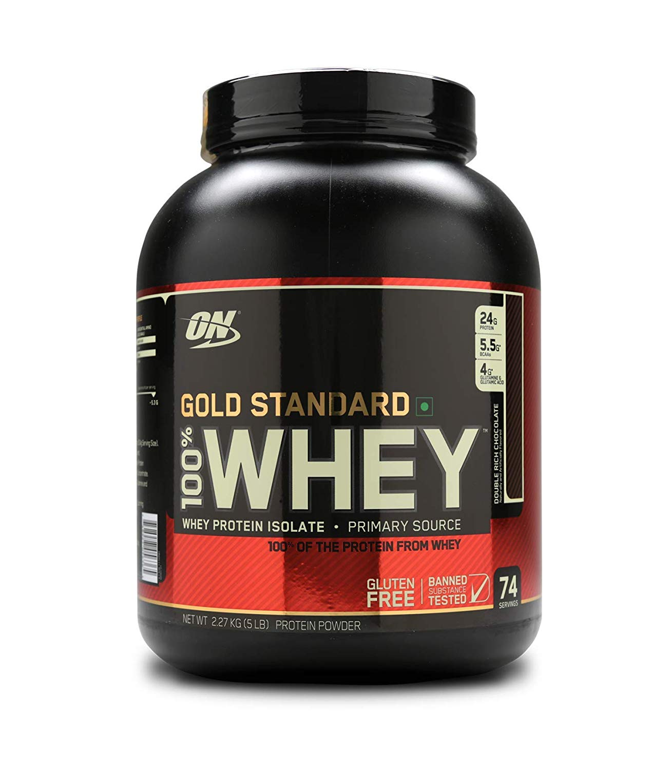 100% Whey Gold Standard 5lb straw. - ON