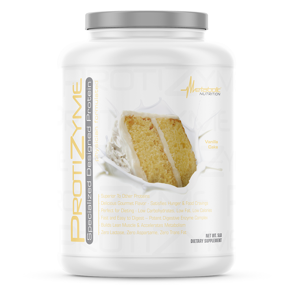 PROTIZYME 5lb van cake - Metabolic Nutrition
