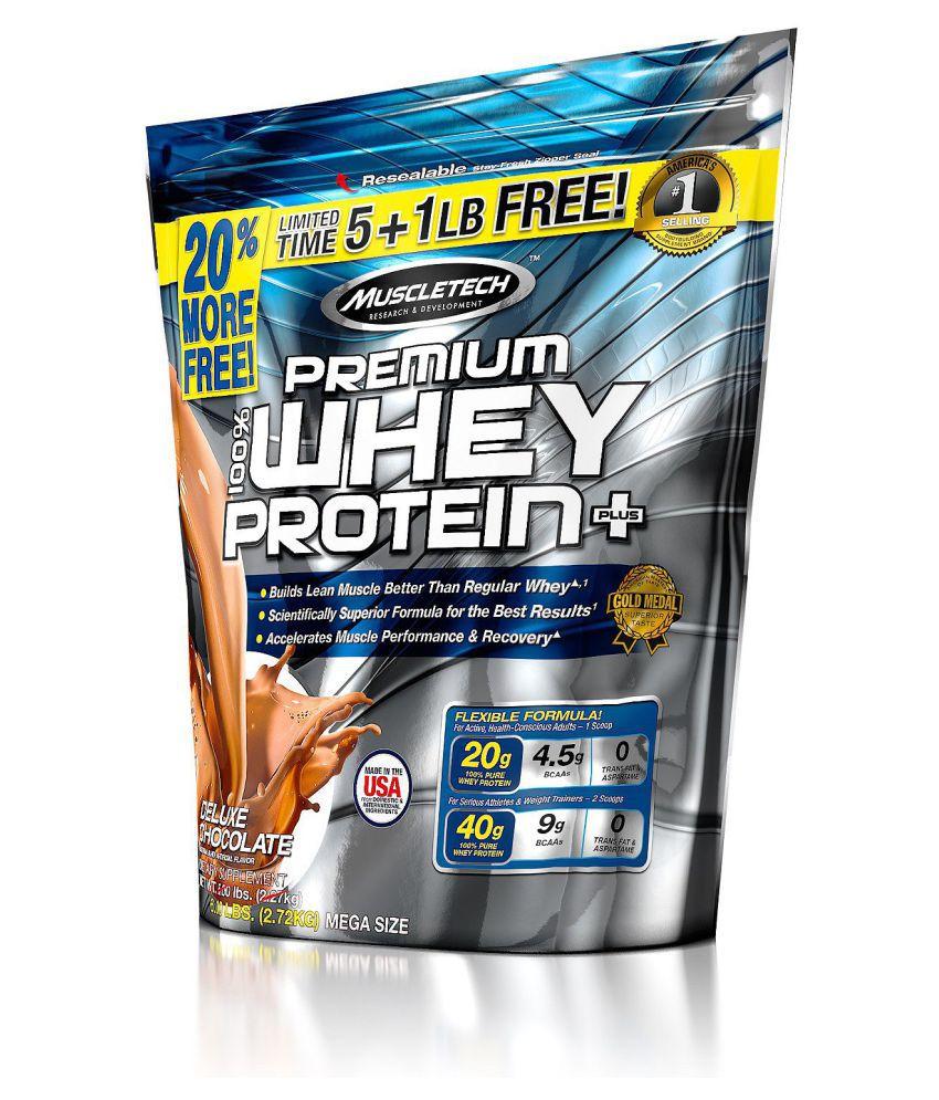 100% Premium Whey Protein Plus 6lb choc. - MT