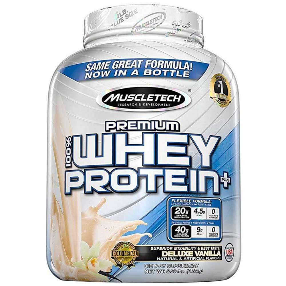 100% Premium Whey Protein Plus 5lb van. (jar) - MT
