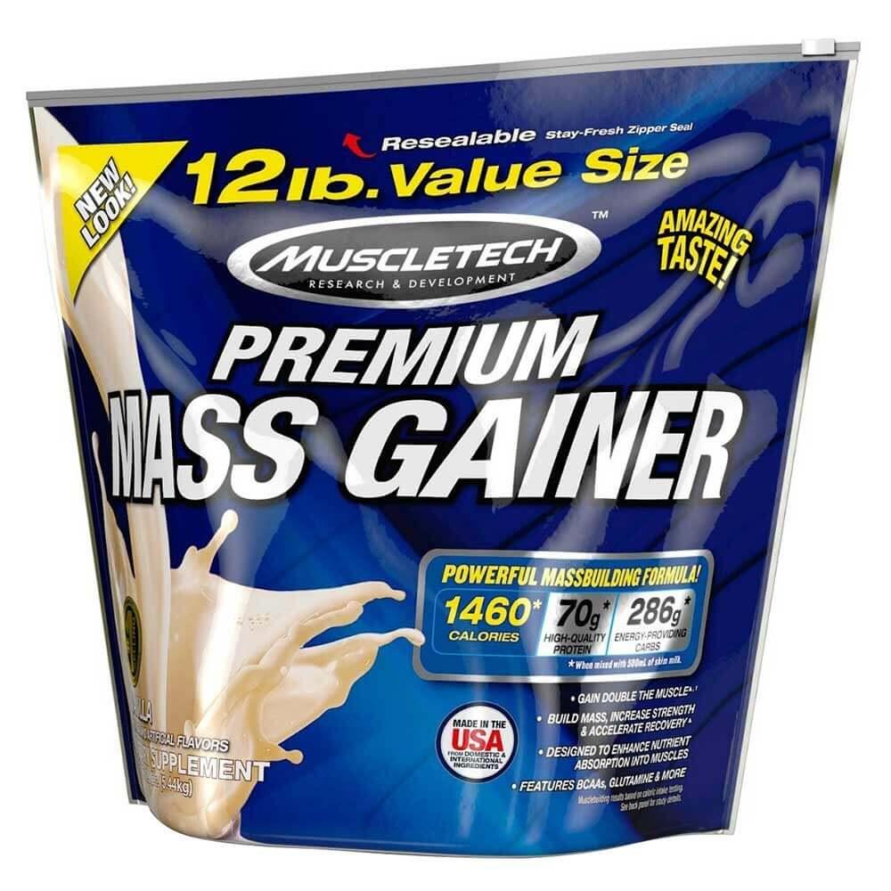 100% Premium Mass Gainer 12lb vanilla - MT