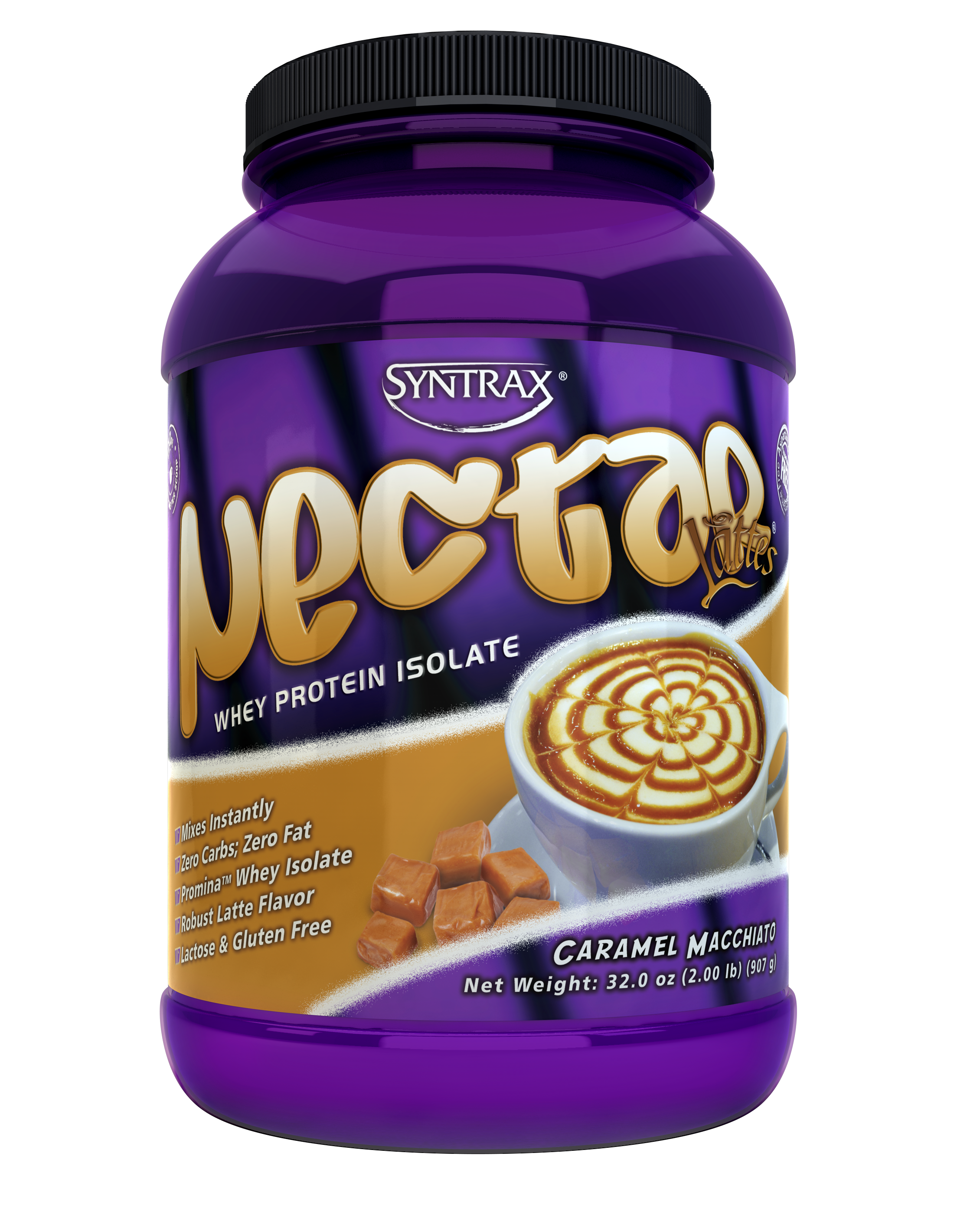 Syntrax Nectar Lattes - Caramel Macchiato 2 lb