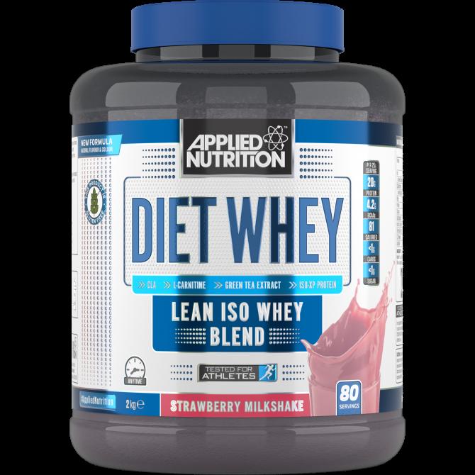 Diet Whey 2kg straw milkshake - Applied Nutrition